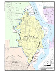 Palatine Hill Water District Map